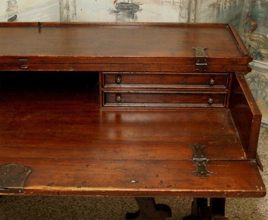 Walnut 19th Century Italian Writing Table or Desk For Sale