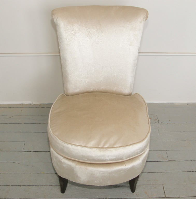art deco chauffeuse ladies budoir chair at 1stdibs. Black Bedroom Furniture Sets. Home Design Ideas