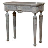 Swedish Painted Marble Top Console Louis XVI