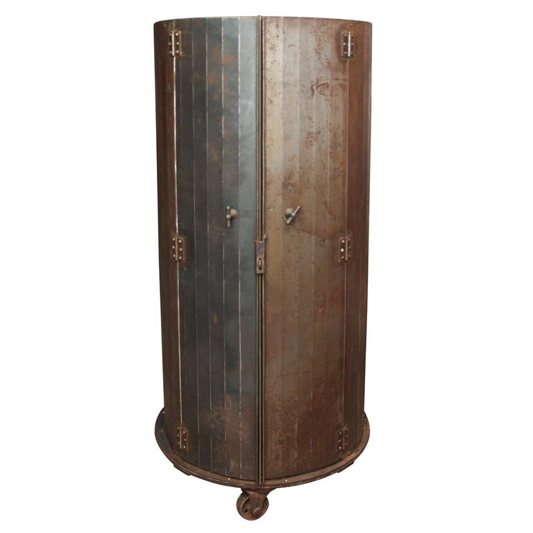 Unique Circular Steel Storage Cabinet At 1stdibs