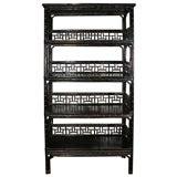 Black Bamboo Bookcase