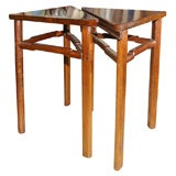 Set of Two Triangle Tables