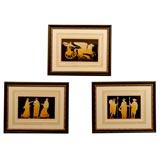 Set of 3 Framed Hamilton Copper Engravings