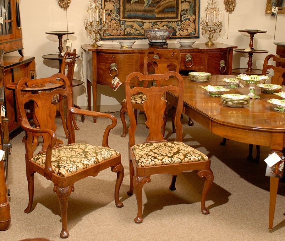 A Set Of Eight (8) Queen Anne Style Dining Chairs Ca. 1890