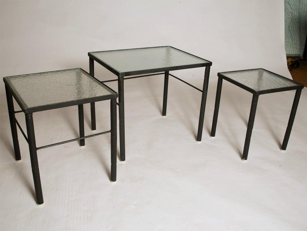 Outdoor Nesting Tables ~ Brown jordan outdoor nesting tables at stdibs