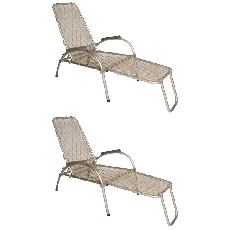 Folding Outdoor Lounge Chairs at 1stdibs
