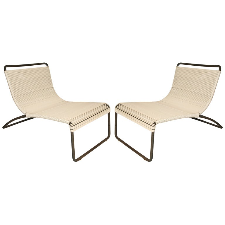 Van Keppel and Green Outdoor Low Lounge Chairs at 1stdibs