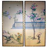 A Pair of  Mid-Century Gracie Chinese Wallpaper Panels