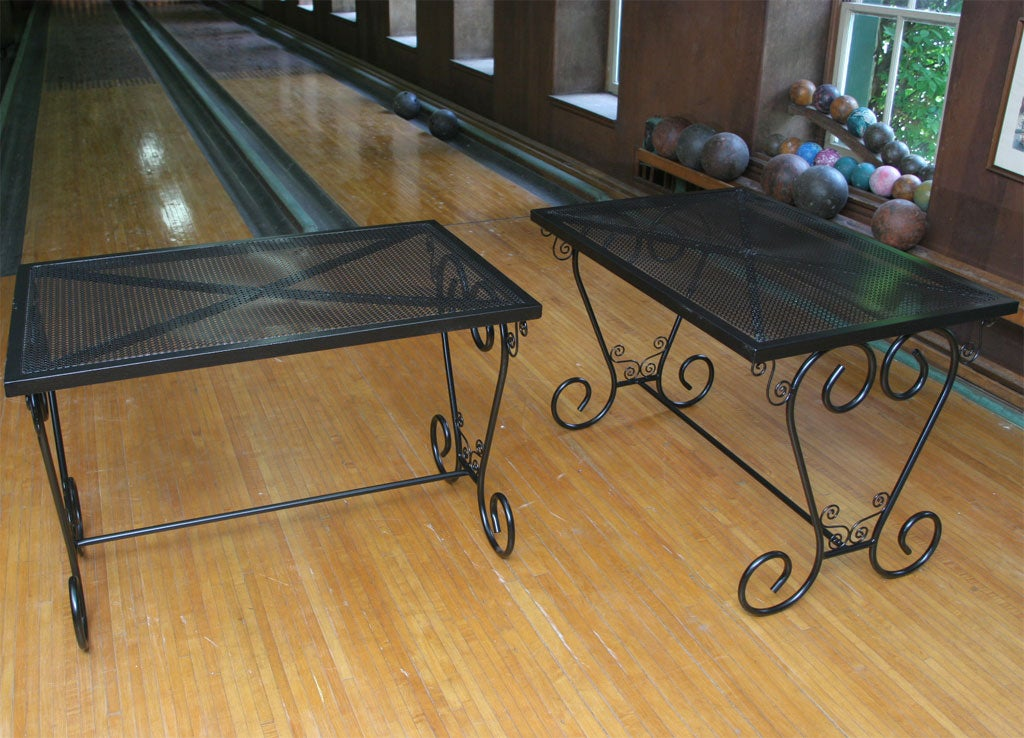 Mid-20th Century French Metal Garden Table For Sale