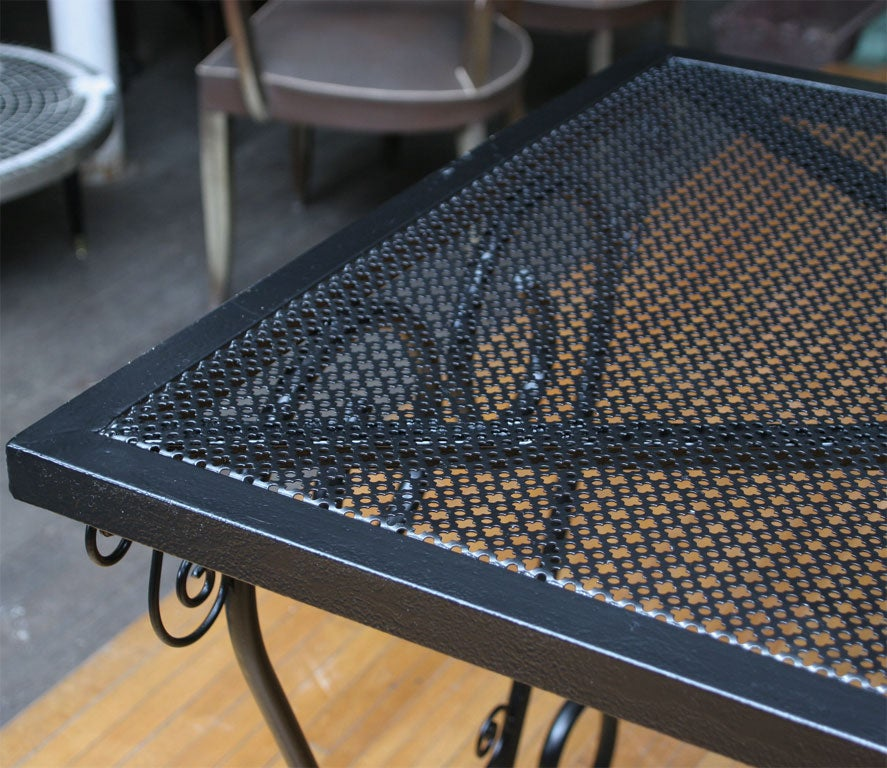 French Metal Garden Table For Sale 1