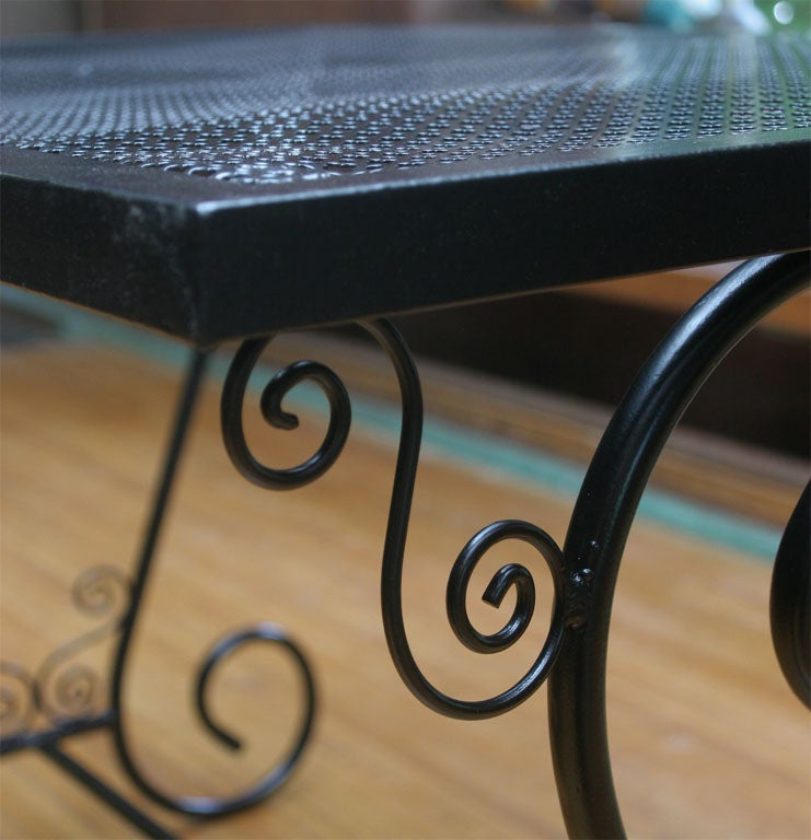 French Metal Garden Table For Sale 2