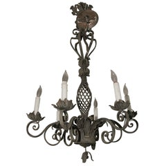 Ornate Wrought Iron Chandelier