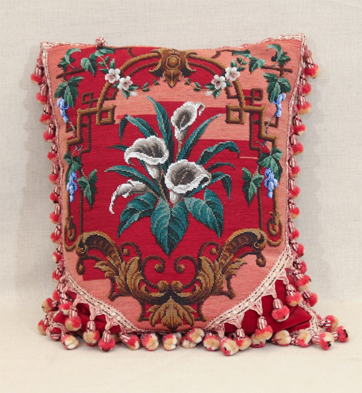 Victorian Tapestry Pillows : Victorian Needlepoint and Beadwork Pillows, England, c. 1875 at 1stdibs