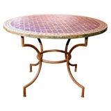 mosaic top, indoor- outdoor, round table