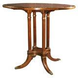 Jansen Circular Leather Top Centre Table