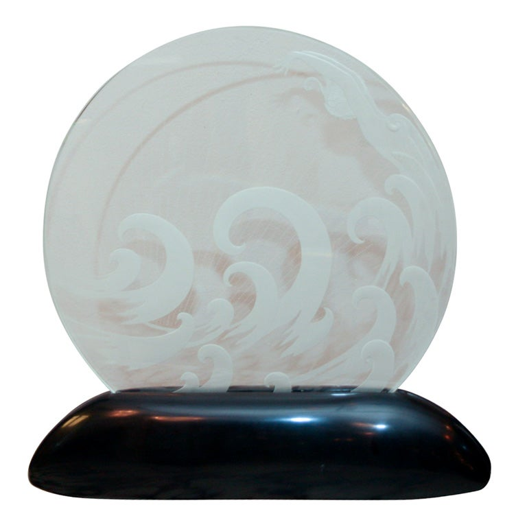 art deco luminaire the wave by ert at 1stdibs. Black Bedroom Furniture Sets. Home Design Ideas