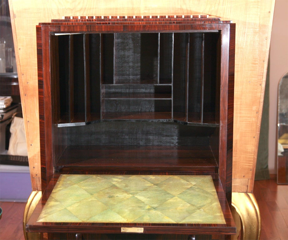 art deco secretaire in the manner of ruhlmann for sale at 1stdibs. Black Bedroom Furniture Sets. Home Design Ideas