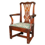 Chippendale Period Antique Carved Mahogany Child's Chair. English, Circa 1775