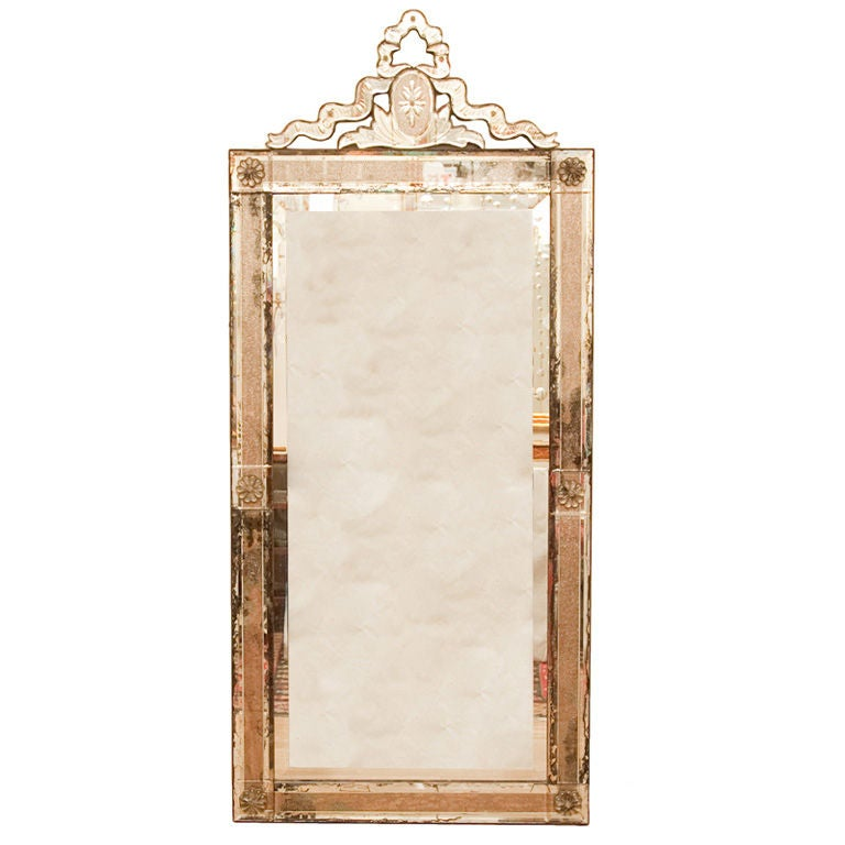 mirror with glass frame at 1stdibs