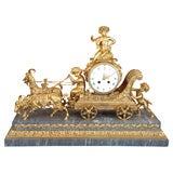 Bronze dore clock