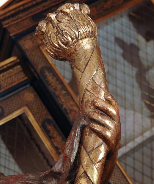 Carved wood angels at 1stdibs