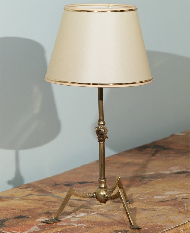 Quirky Wall Lamps : Unusual Pair of Adjustable Brass Table or Wall Lamps For Sale at 1stdibs