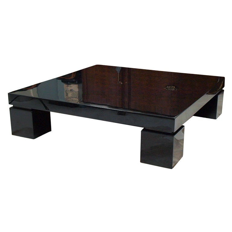 Low Black Lacquer Coffee Table
