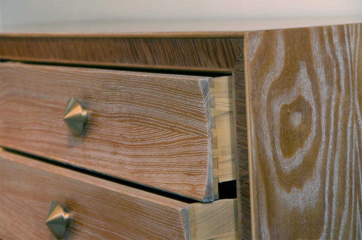 American Limed Natural Oak Dresser with Combed Oak Border by Paul Frankl For Sale
