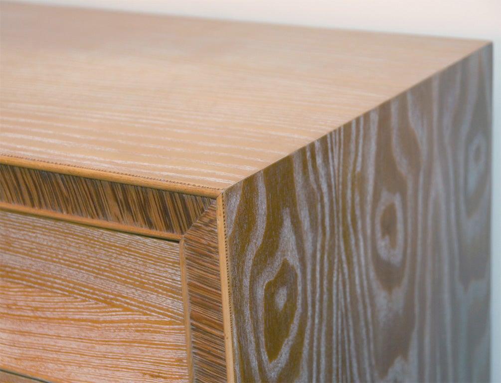 Limed Natural Oak Dresser with Combed Oak Border by Paul Frankl For Sale 1