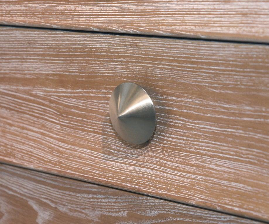 Limed Natural Oak Dresser with Combed Oak Border by Paul Frankl For Sale 2