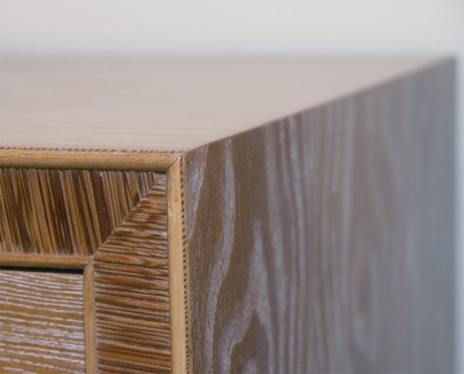 Limed Natural Oak Dresser with Combed Oak Border by Paul Frankl For Sale 3