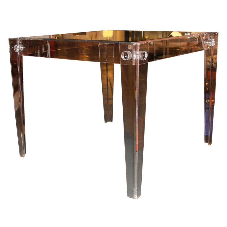 lucite card table at 1stdibs