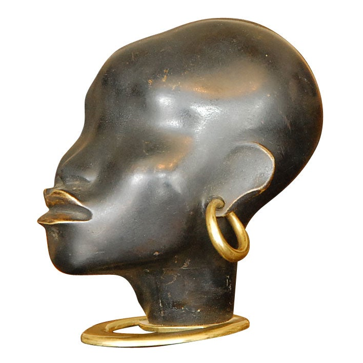 African Sculpture: Hagenauer Deco African Woman Bronze Head Signed At 1stdibs