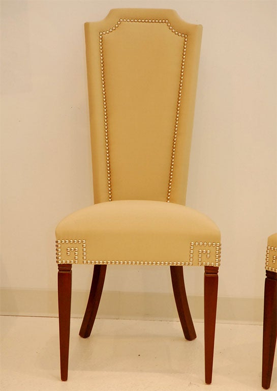 High Back Dining Chair With Arms