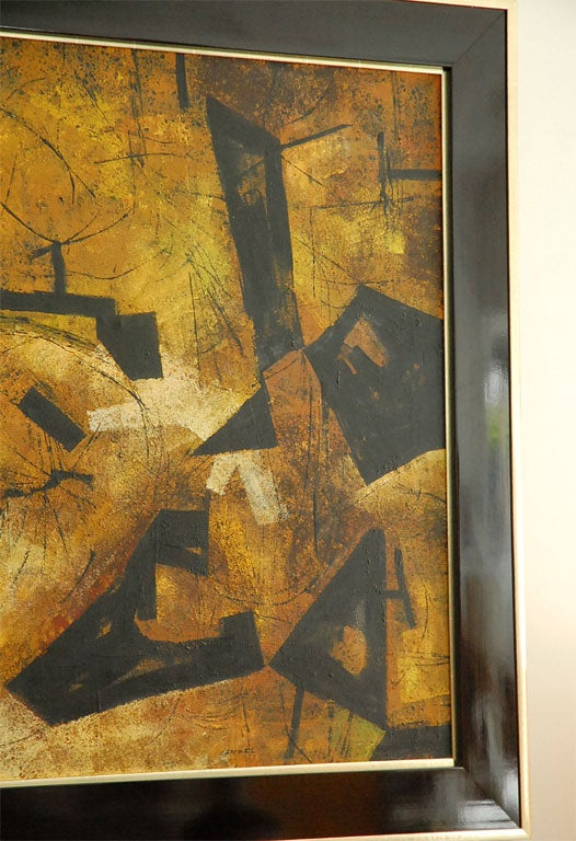 """Mai"" California Modernist Abstract by Jules Engel 3"