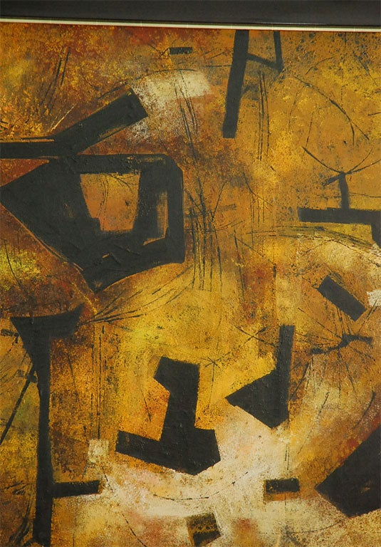 """Mai"" California Modernist Abstract by Jules Engel 4"