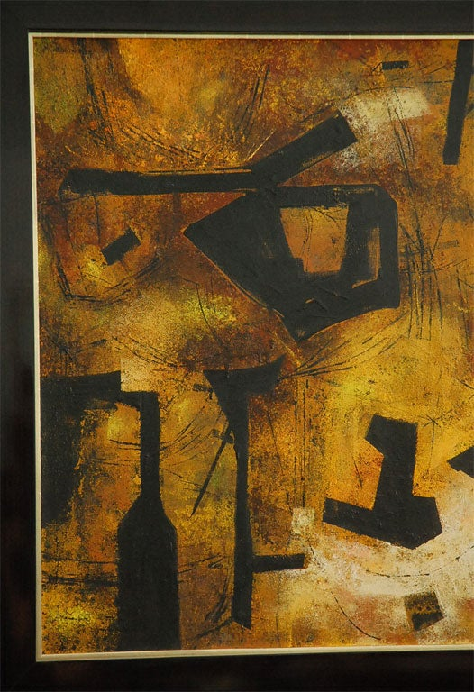 """Mai"" California Modernist Abstract by Jules Engel 5"