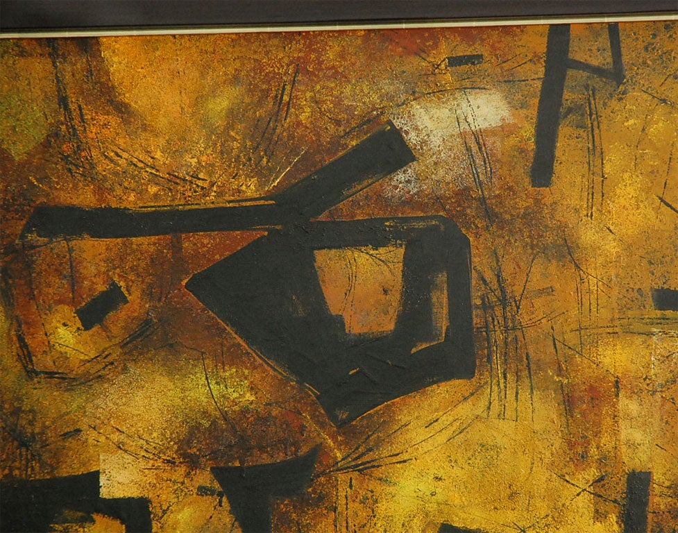 """Mai"" California Modernist Abstract by Jules Engel 6"