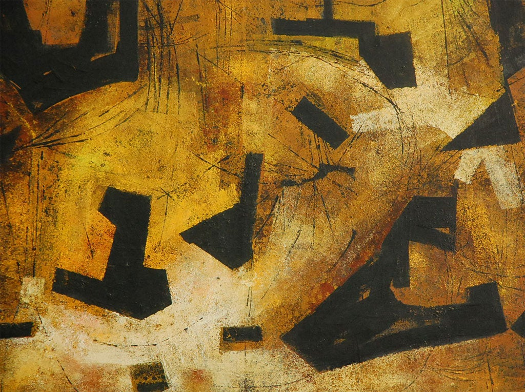 """Mai"" California Modernist Abstract by Jules Engel 7"