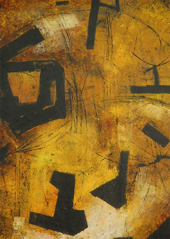 """Mai"" California Modernist Abstract by Jules Engel 8"