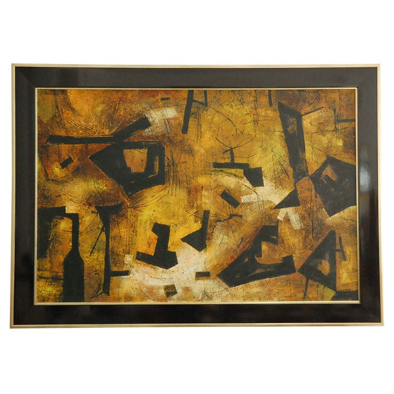 """Mai"" California Modernist Abstract by Jules Engel 1"