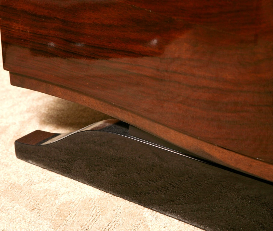 French Art Deco Exotic Rosewood Server Buffet Console