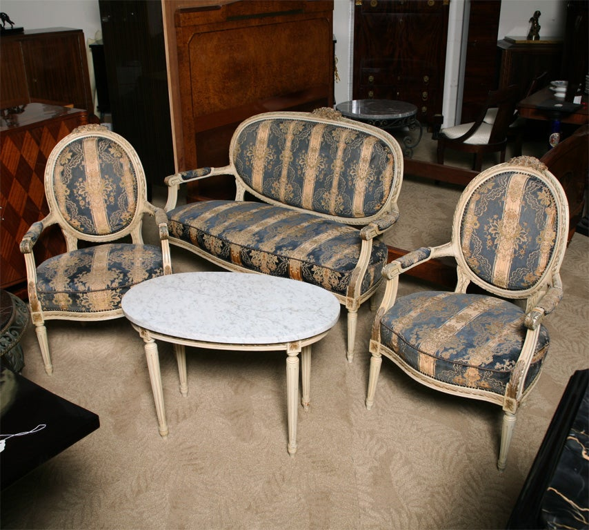 19thc French Quot Louis Xvi Quot 4 Piece Salon Suite All Original