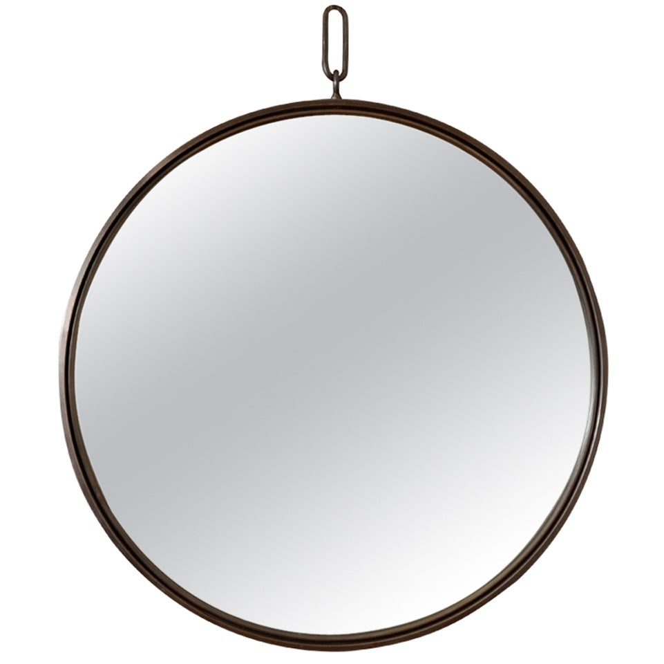 Contemporary mirror with rope hanging at 1stdibs for Hanging mirror