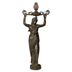 Val D'Osne bronze over iron statue