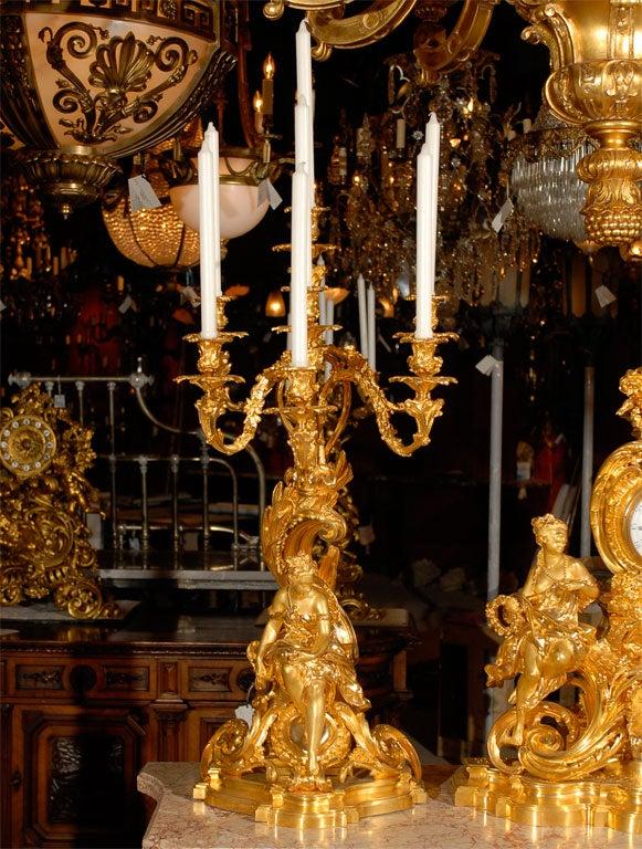 19th Century Three-Piece Garniture Set In Excellent Condition For Sale In Atlanta, GA