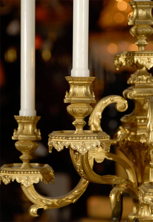 Magnificent pair of candelabra For Sale 3