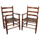 PAIR OF EARLY 20THC CAMP/ARM CHAIRS