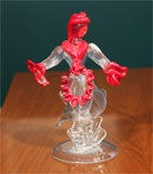 Glass Figures by Martinuzzi for Venini, Italian 1925, signed. thumbnail 4
