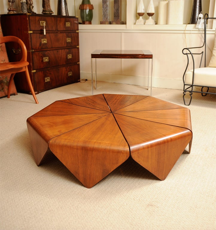 Bent Wood Cocktail Table By Jorge Zalszupin At 1stdibs